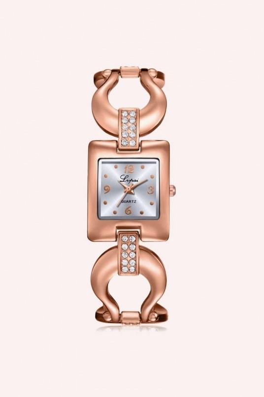 Reloj gold square - dorado rosa
