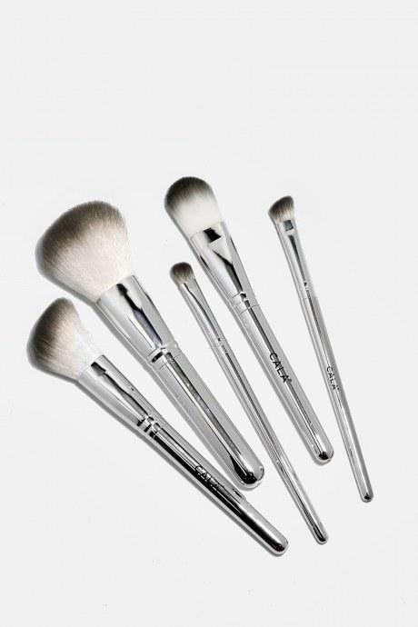 Set de 5 brochas silver chrome - cala