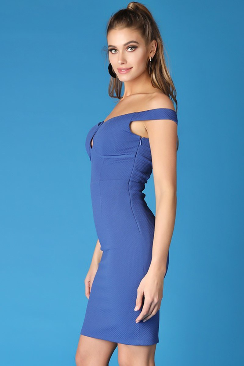 Vestido back strap - azul