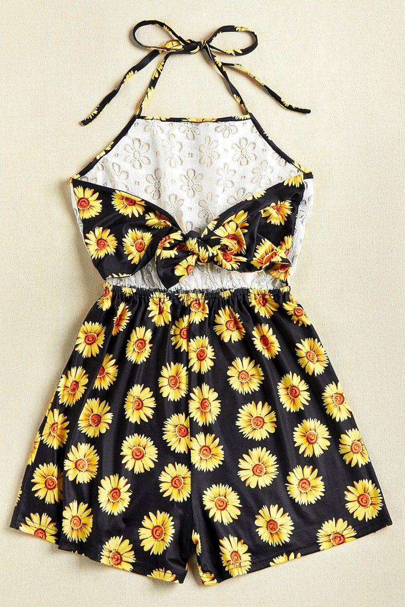 Enterizo lace floral