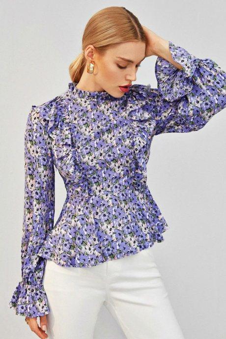 Blusa allover floral
