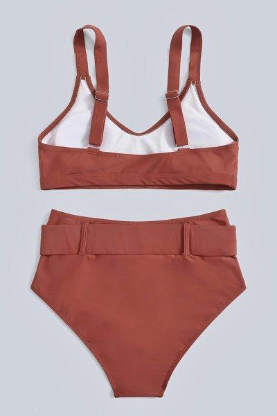 Bikini buckle high waist