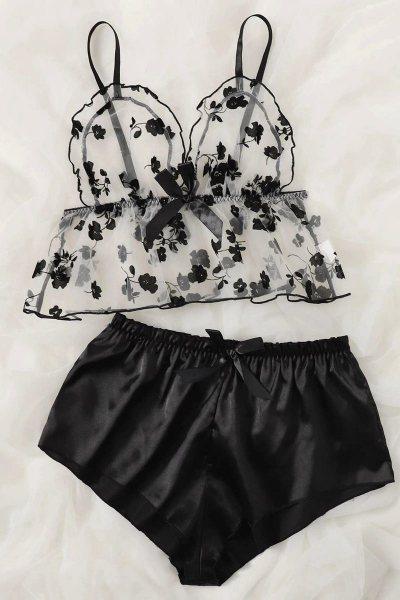 Pijama contrast floral