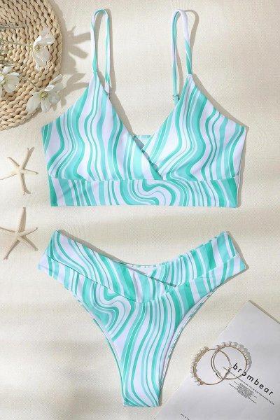 Bikini striped cheeky