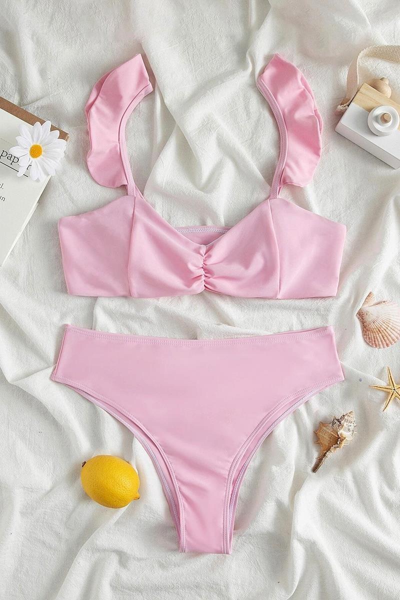 Bikini ruffle trim