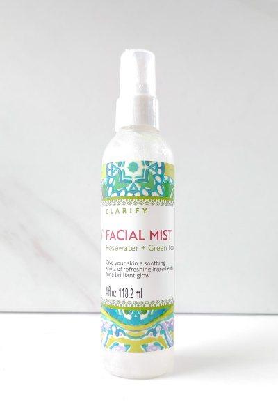 Spray facial agua de rosas y te verde